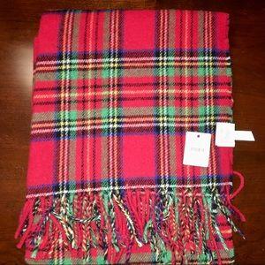 nwt jcrew tartan scarf h3794